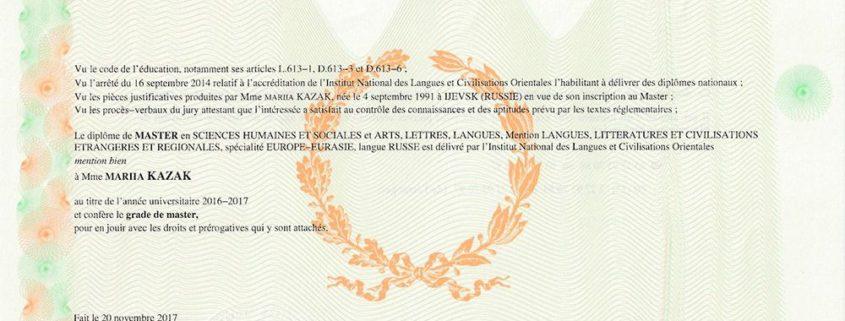 Master Linguistique Inalco Sorbonne - FormaRusse